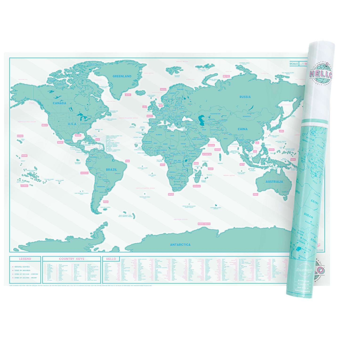 Luckies scratch map hello edition at john lewis buyluckies scratch map hello edition online at johnlewis gumiabroncs Image collections