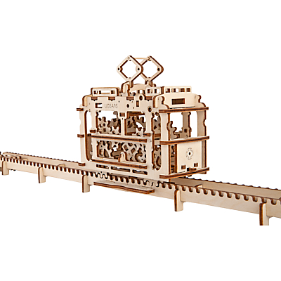 Image of UGears Mechanical Model Tram Wood Puzzle