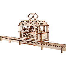 Buy UGears Mechanical Model Tram Wood Puzzle Online at johnlewis.com
