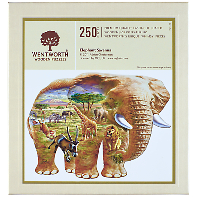 Image of Wentworth Wooden Puzzles Elephant Savannah Jigsaw Puzzle