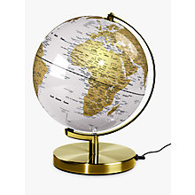 "Buy Wild Wood Light Up 10"" Globe, Arctic White Online at johnlewis.com"