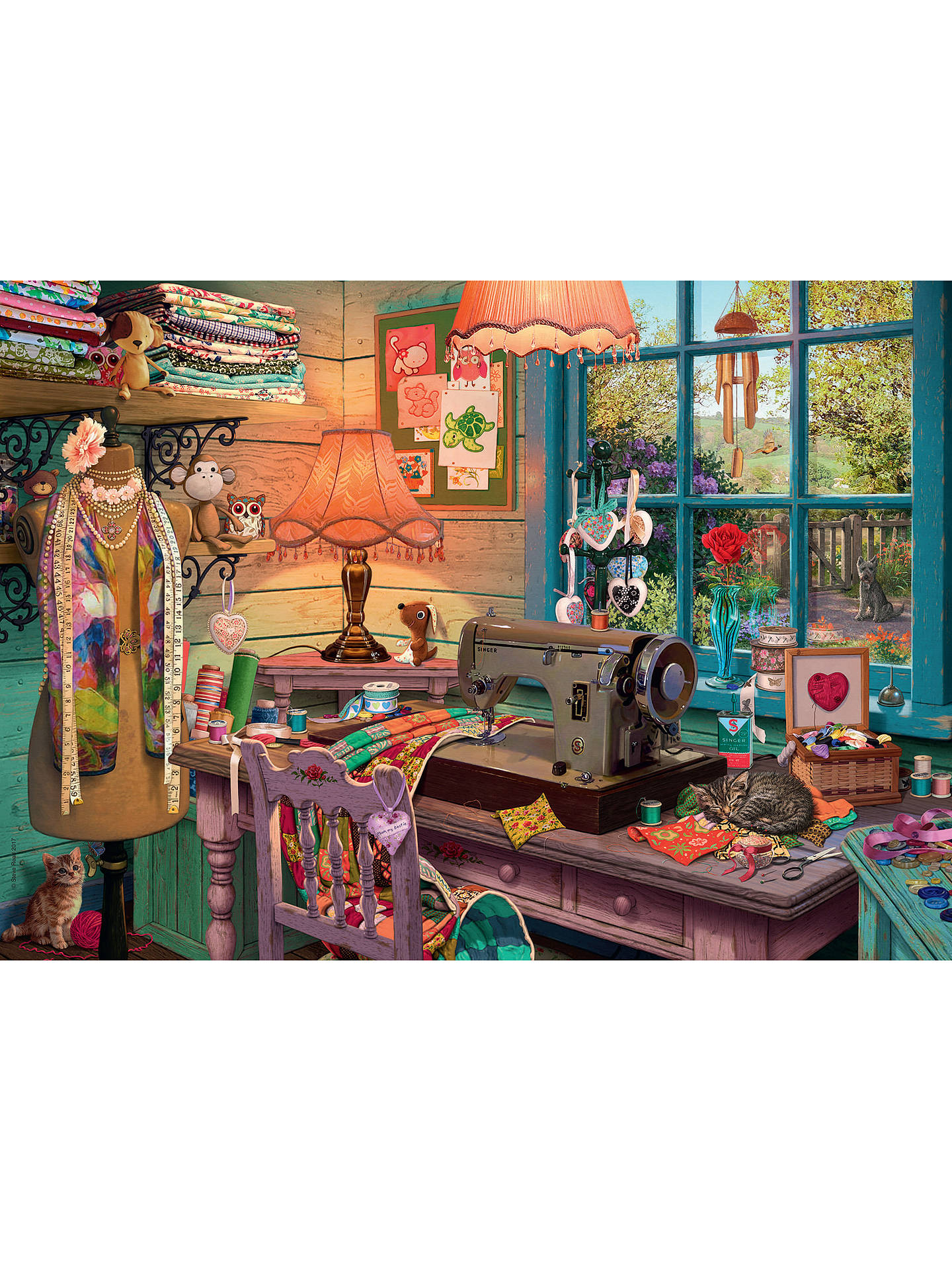 BuyRavensburger The Sewing Shed Jigsaw Puzzle, 1000 Pieces Online at johnlewis.com