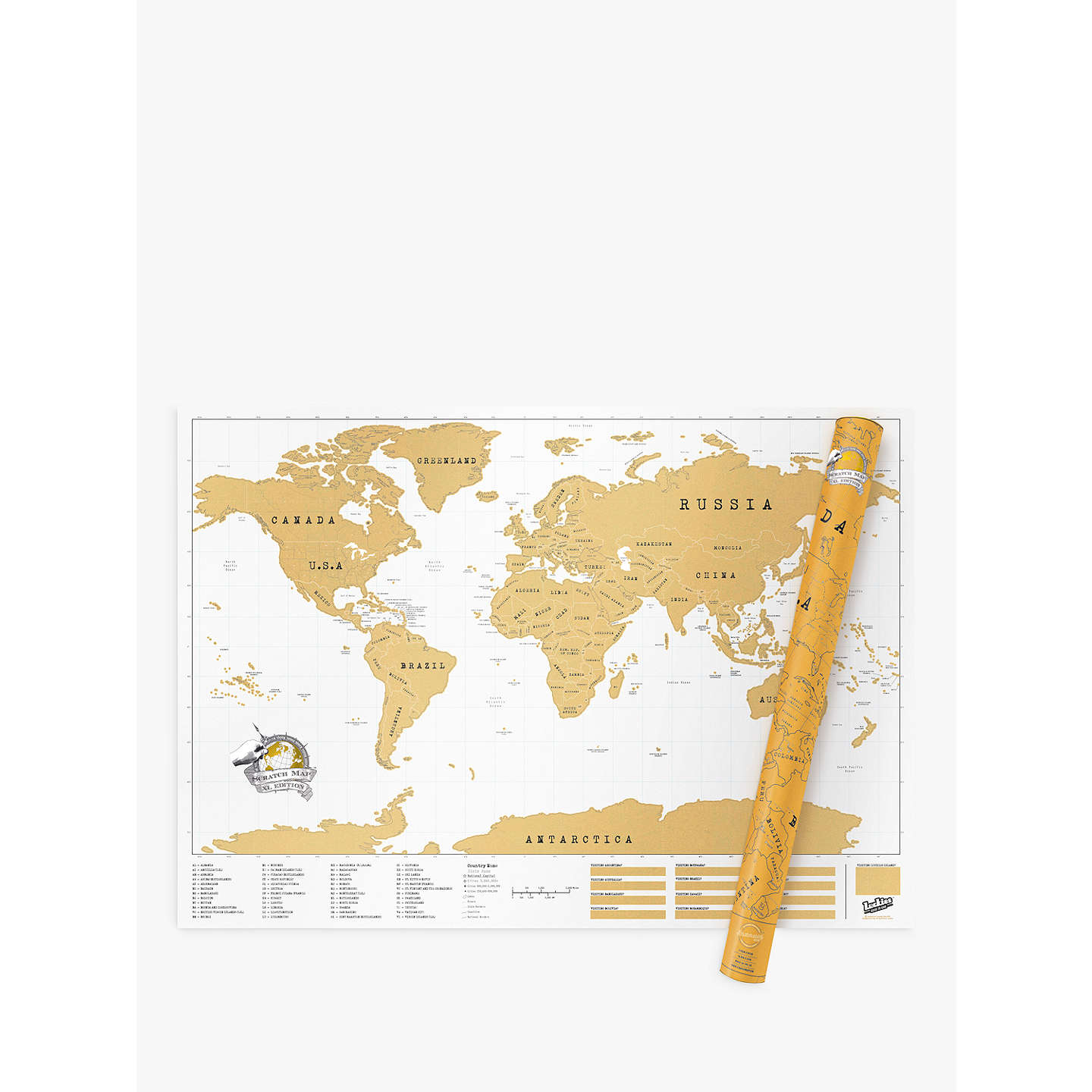 Luckies scratch map xl edition at john lewis buyluckies scratch map xl edition online at johnlewis gumiabroncs Image collections