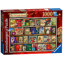 Buy Ravensburger The Christmas Library Jigsaw Puzzle, 1000 pieces Online at johnlewis.com