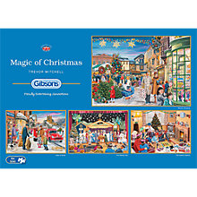 Buy Gibsons The Magic Of Christmas, 4 x 500 pieces Online at johnlewis.com