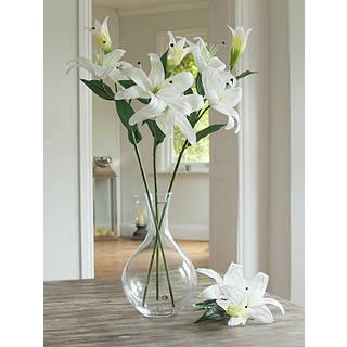 Peony Artificial Casablanca Lilies White