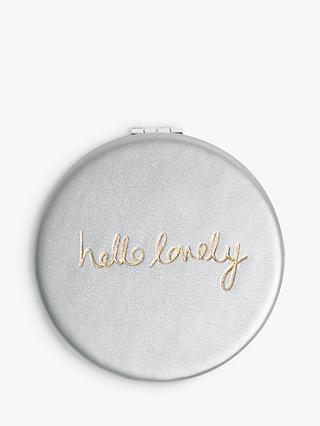 Katie Loxton Hello Lovely Compact Mirror, Silver