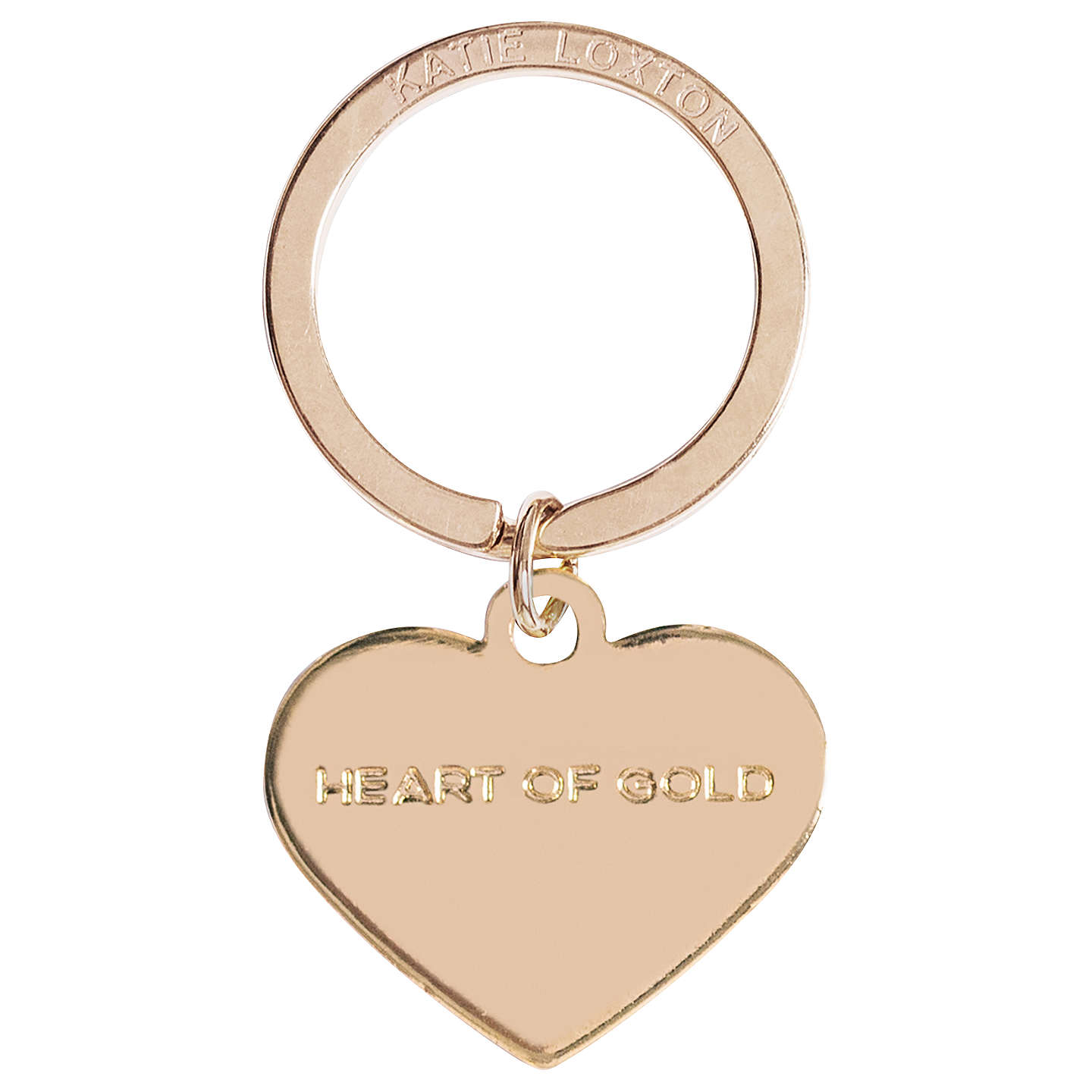 BuyKatie Loxton Heart Of Gold Keyring Online at johnlewis.com