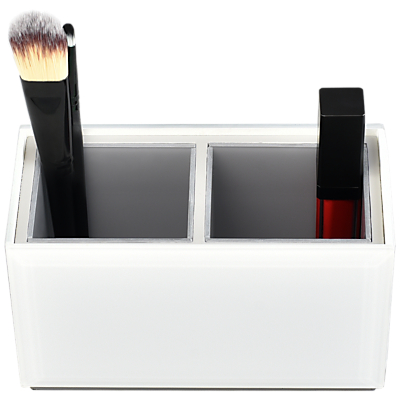 Stackers Sleek Medium Glass Cosmetic Tidy, White