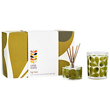 Buy Orla Kiely Fig Tree Mini Candle & Diffuser Gift Set Online at johnlewis.com
