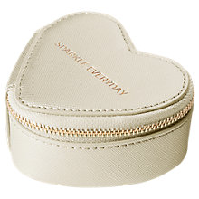Buy Katie Loxton Travel Jewellery Case Sparkle Everyday, Gold Online at johnlewis.com