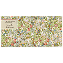 Buy Morris & Co Golden Lily Lavender Eye Mask, Green Online at johnlewis.com