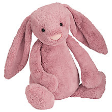 Buy Jellycat Bashful Bunny Soft Toy, Really Big, Pink Online at johnlewis.com