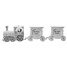 Buy John Lewis Silver Plated Curl & Tooth Train Online at johnlewis.com