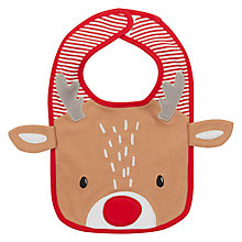 Buy John Lewis Baby Christmas Reindeer Bib Online at johnlewis.com
