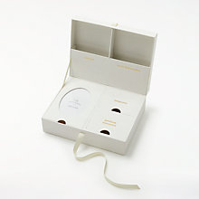 Buy John Lewis Baby Linen Keepsake Box, Gold/Silver Online at johnlewis.com