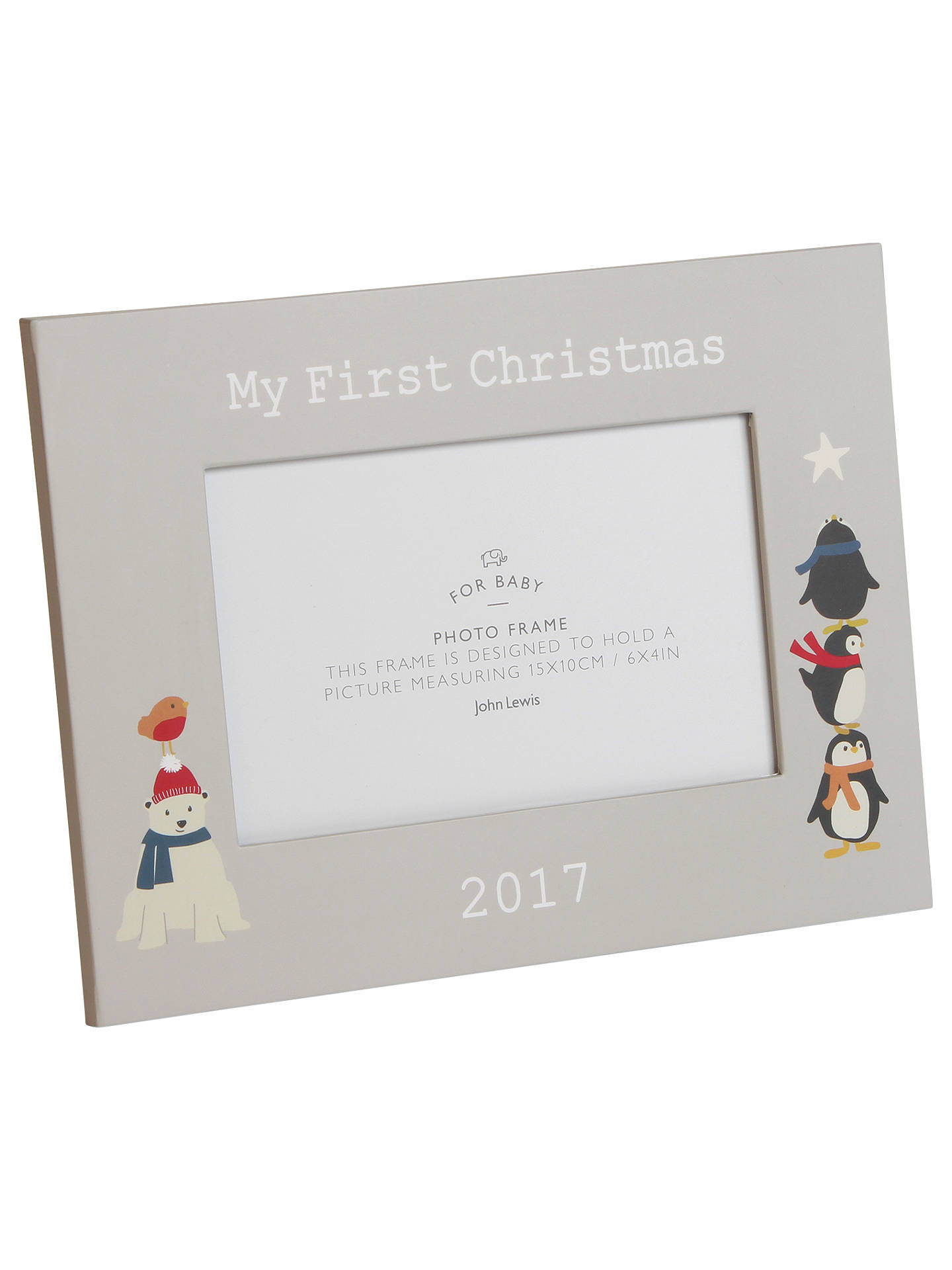 buyjohn lewis my 1st christmas photo frame 2017 online at johnlewiscom