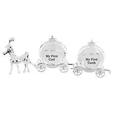 Buy John Lewis Silver Plated Curl & Tooth Princess Carriage Online at johnlewis.com