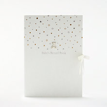 Buy John Lewis Baby Linen Record Book, Gold/Silver Online at johnlewis.com