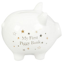 Buy John Lewis Piggy Bank, Gold/Silver Online at johnlewis.com