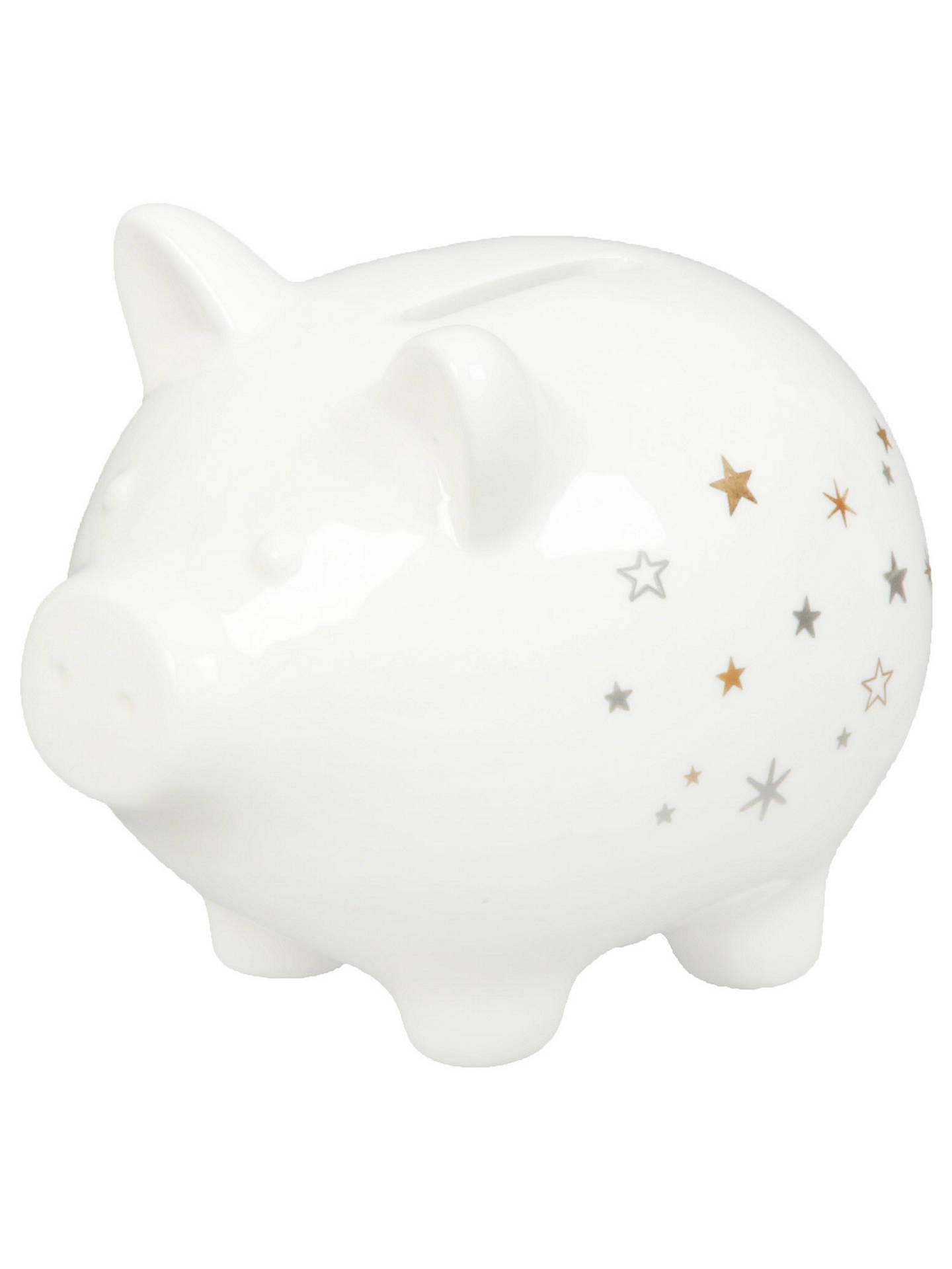 a100b268a782 ... Buy John Lewis & Partners Piggy Bank, Gold/Silver Online at johnlewis.  ...