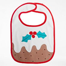 Buy John Lewis Baby Christmas Pudding Bib Online at johnlewis.com