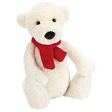 Buy Jellycat Bashful Polar Bear Soft Toy, Medium, White Online at johnlewis.com
