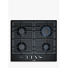 Buy Bosch PCP6A6B90 Gas Hob, Black Online at johnlewis.com