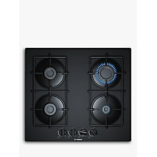 Buy Bosch PNP6B6B80 Gas Hob, Black Online at johnlewis.com