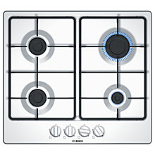 Buy Bosch PGP6B2B60 Gas Hob, White Online at johnlewis.com