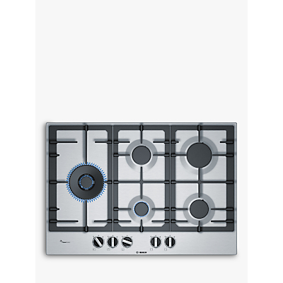 Image of Bosch PCS7A5B90 5 Burner Black Stainless steel Gas Hob
