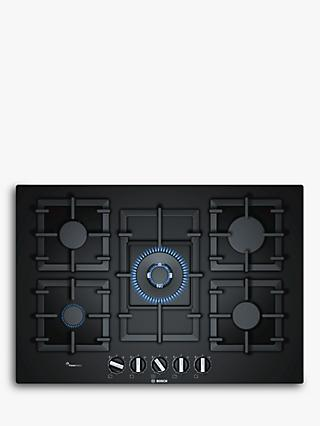 Bosch PPQ7A6B90 FlameSelect Gas Hob, Black