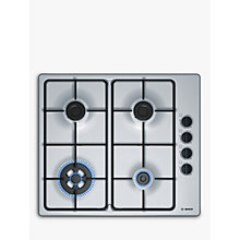 Buy Bosch PBH6B5B80 Gas Hob, Stainless Steel Online at johnlewis.com