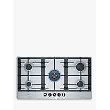Buy Bosch PCR9A5B90 Integrated Gas Hob, Stainless Steel Online at johnlewis.com