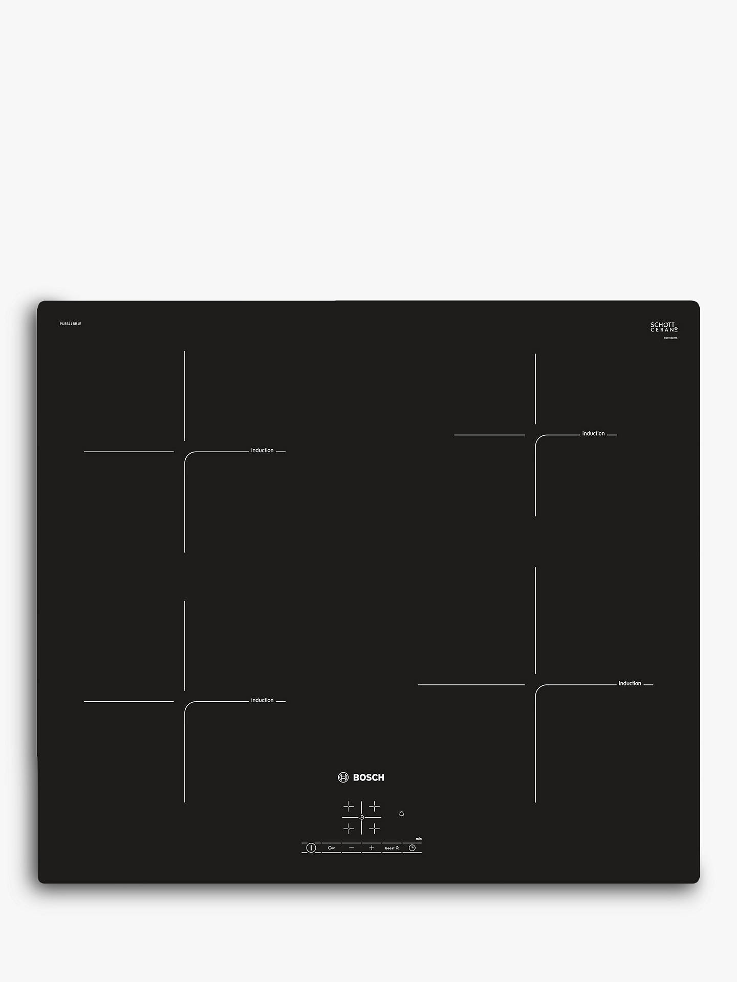 BuyBosch PUE611BB1E Induction Hob, Black Online at johnlewis.com