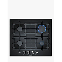 Buy Bosch PPP6A6B90 FlameSelect Gas Hob, Black Online at johnlewis.com