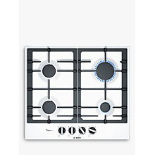Buy Bosch PCP6A2B90 FlameSelect Gas Hob, White Online at johnlewis.com