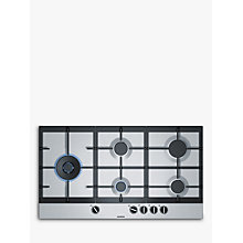 Buy Siemens EC9A5SB90 StepFlame Gas Hob, Stainless Steel Online at johnlewis.com