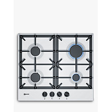 Buy Neff T26DS49W0 FlameSelect Gas Hob, White Online at johnlewis.com