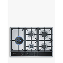 Buy Neff T27DA79N0 FlameSelect Gas Hob, Stainless Steel Online at johnlewis.com