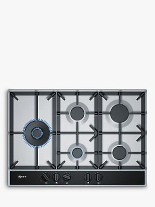 Neff T27DA79N0 FlameSelect Gas Hob, Stainless Steel