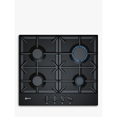 Image of Neff T26DS49S0 59cm Four Zone Gas Hob Black With Cast Iron Pan Stands