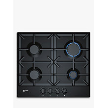 Buy Neff T26DS49S0 FlameSelect Gas Hob, Black Online at johnlewis.com