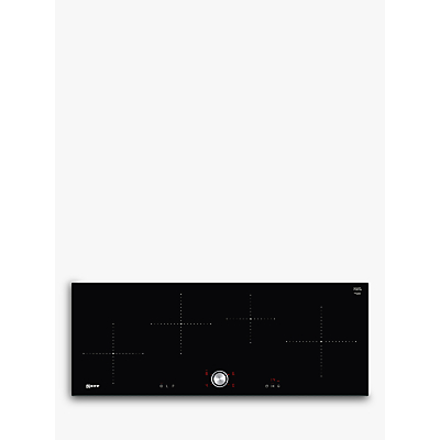 Image of Neff T40FT40X0 91cm TwistPad Control Four Zone Induction Hob With FlexInduction Zone Black