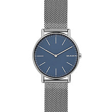 Buy Skagen Signatur SKW6420 Women's Bracelet Watch, Gun Metal/Blue Online at johnlewis.com