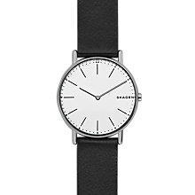 Buy Skagen Signatur Women's Leather Strap Watch Online at johnlewis.com