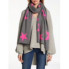 Buy Wyse London Neon Star Cashmere Scarf, Grey Mix Online at johnlewis.com