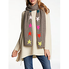 Buy Wyse London Side Star Cashmere Scarf, Toast Online at johnlewis.com