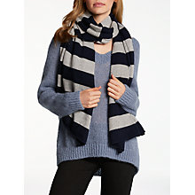 Buy Wyse London Metallic Fibre Stripe Cashmere Scarf Online at johnlewis.com