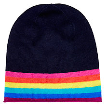 Buy Wyse London Rainbow Stripe Cashmere Beanie Online at johnlewis.com